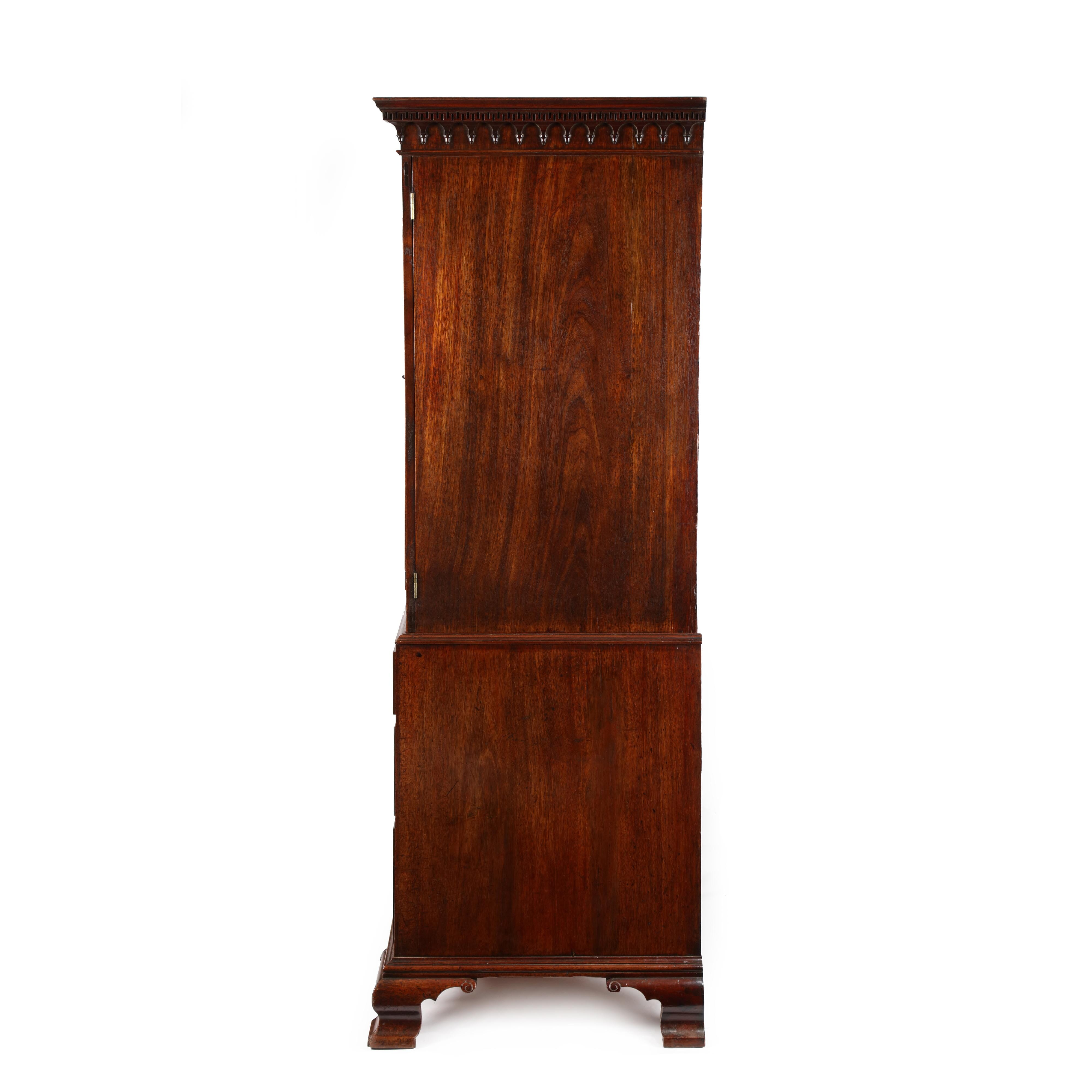 George Iii Mahogany Linen Press In The Manner Of Gillows