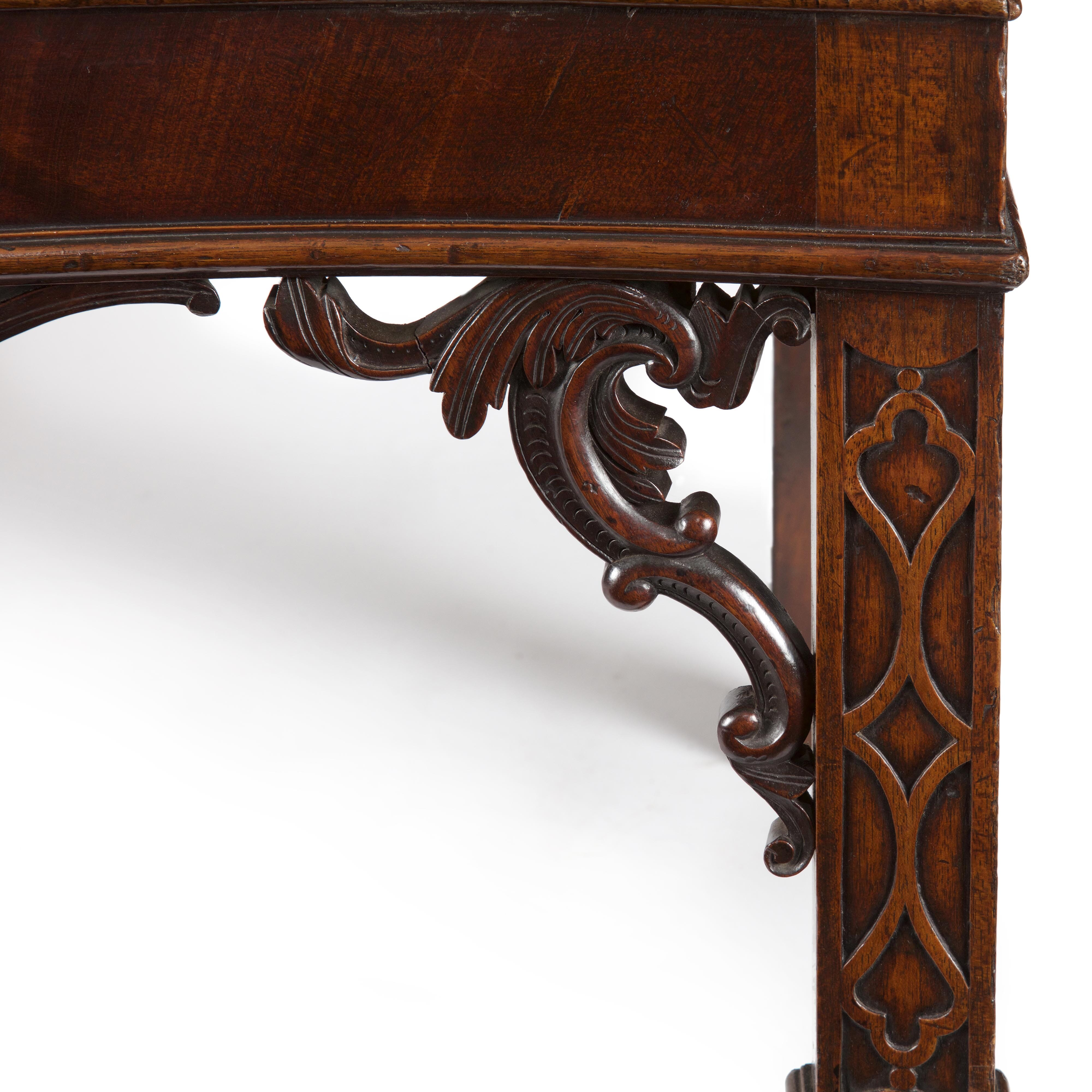 George Iii Irish Carved Mahogany Serpentine Linen Press
