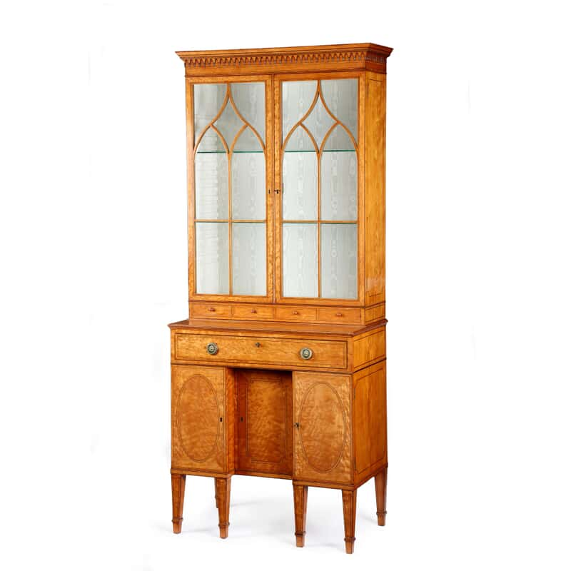 george iii satinwood secretaire cabinet attributed to thomas